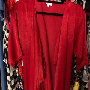 LuLaRoe Swim - Lularoe red Shirley velvet like material Bnwt s